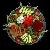 Гаспачо-салат с телятиной