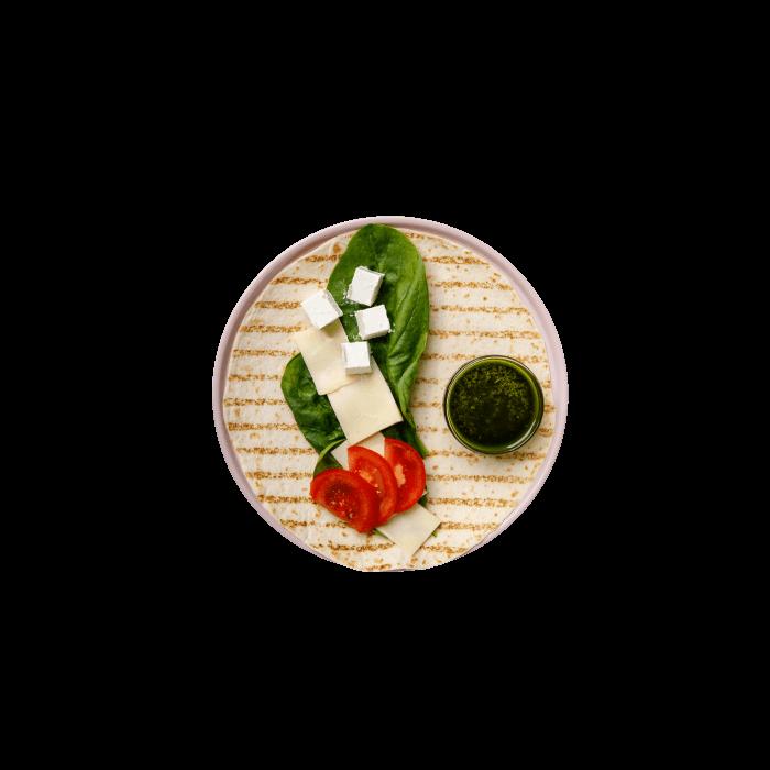 Фреш-ролл с сыром и шпинатом