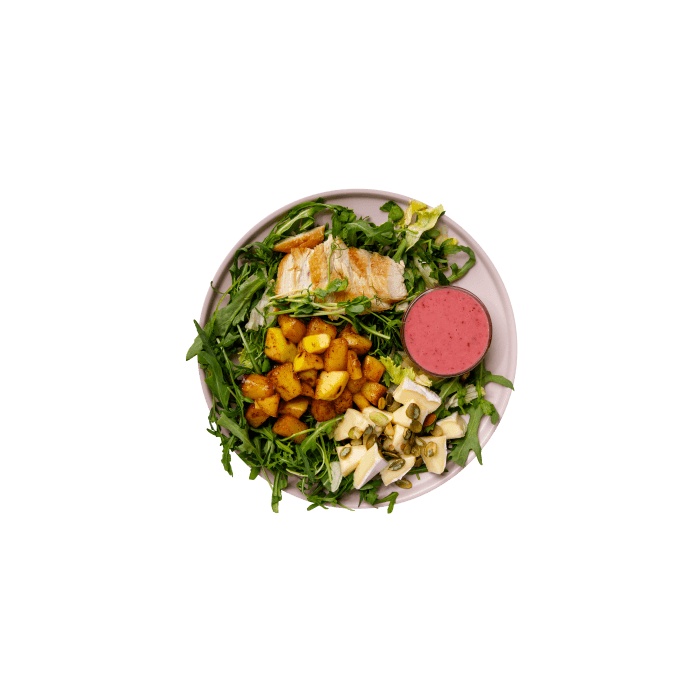Салат с ананасовым чатни