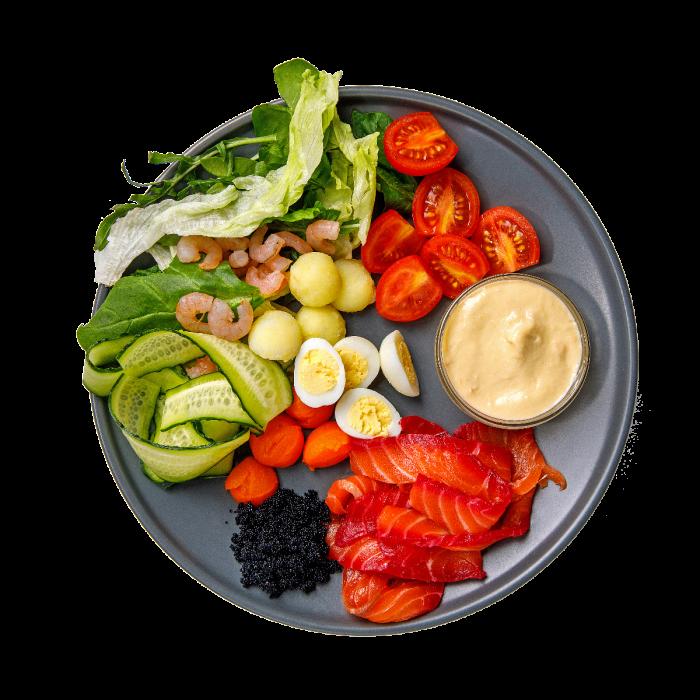 Салат с Красным Лососем